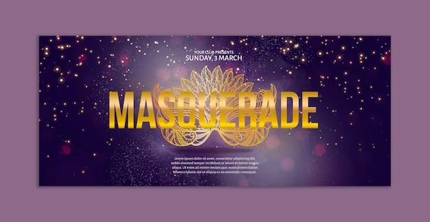 Carnaval banner mockup Gratis Psd