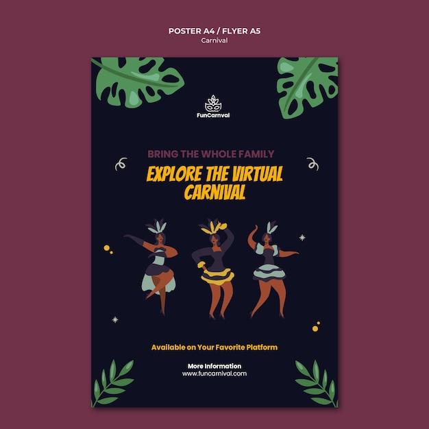 Carnaval poster sjabloon Gratis Psd