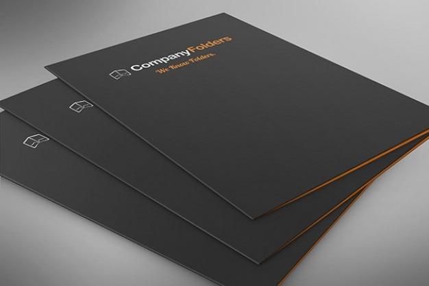 Carpeta bajo el ngulo de apilado plantilla maqueta psd for Best product design firms