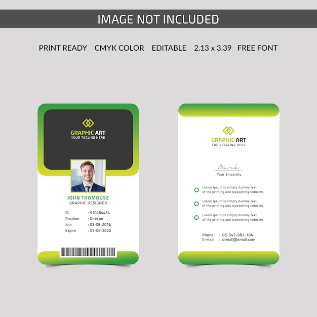 Carta d'identità Psd Premium