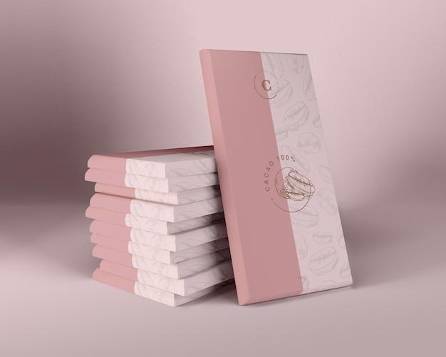Carta da imballaggio per design al cioccolato Psd Gratuite