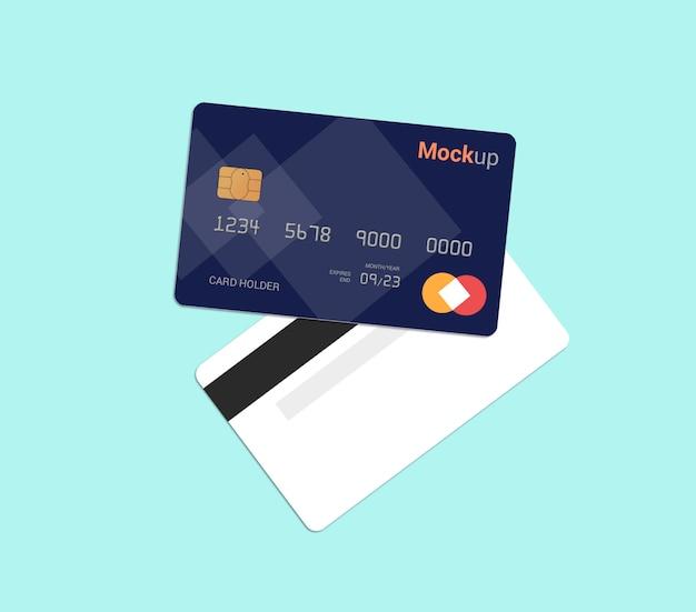 Carta di debito, carta di credito, modello di smart card mockup Psd Premium