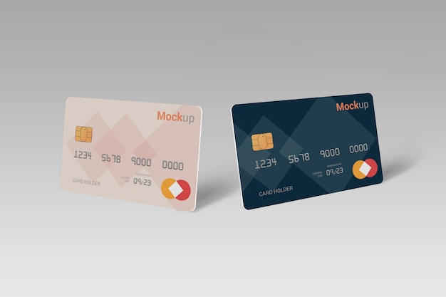 Carta di debito, carta di credito, smart card mock-up Psd Premium