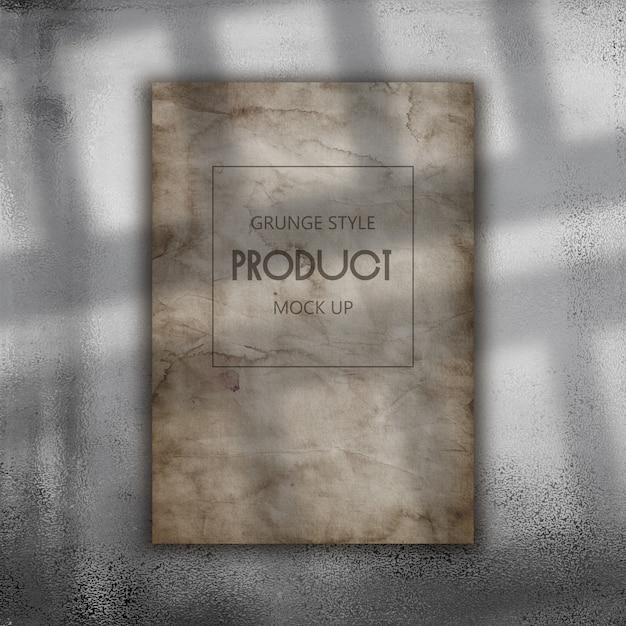 Carta grunge modificabile mock up Psd Premium