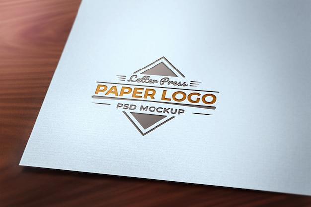 Carta prensa logotipo maqueta de papel PSD Premium