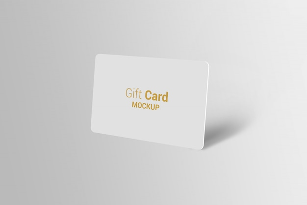 Carta regalo mock-up Psd Premium