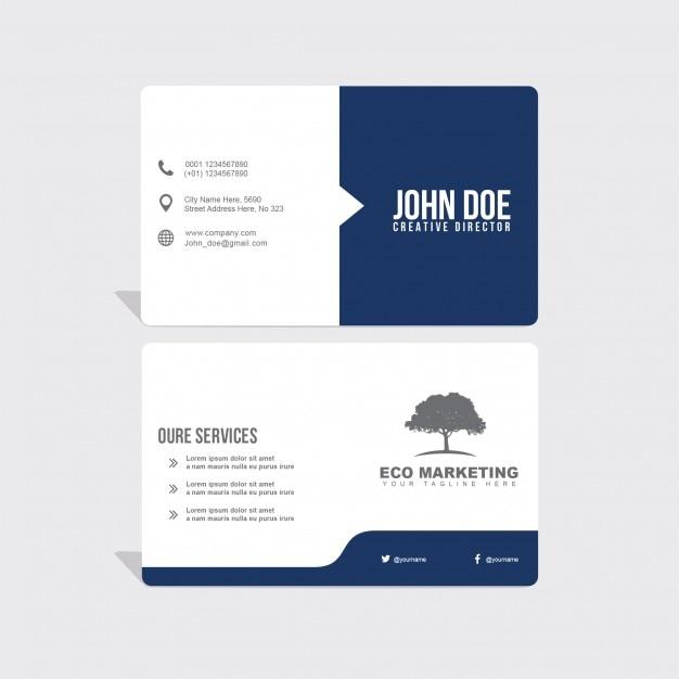 cartão de visita azul Psd grátis