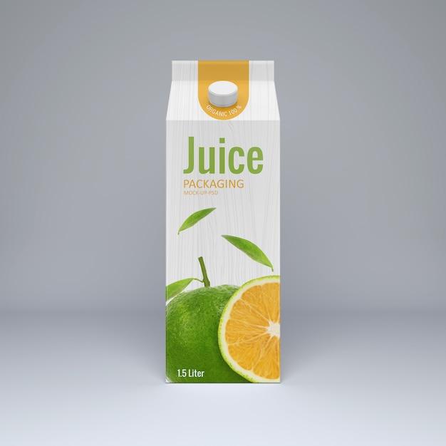 Cartone juice mockup Psd Premium