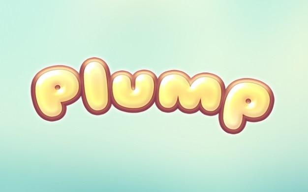 Cartoon tekst effect mollige logo Gratis Psd