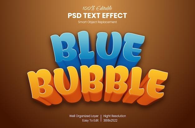 Cartoon teksteffect Premium Psd