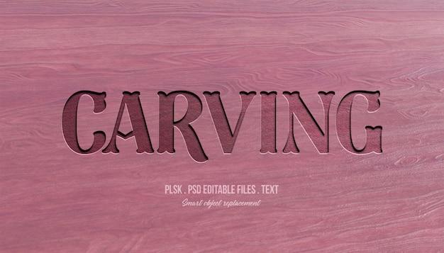 Carving 3d effect tekststijl Premium Psd