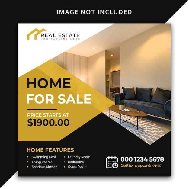 Casa in vendita modello di post social media Psd Premium