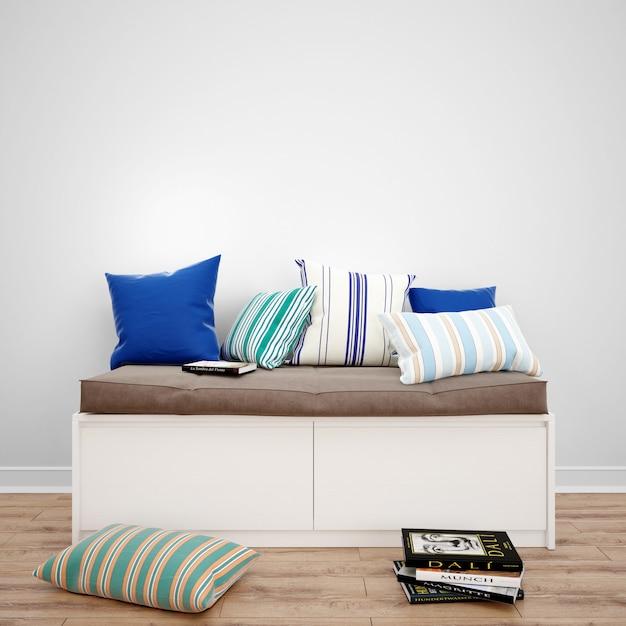 Cuscini Per Sedersi.Cassettiera Con Cuscini Per Sedersi Idee Di Interior Design Psd