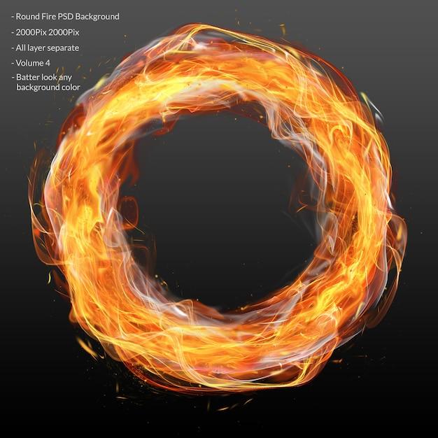 Cerchio fuoco a strati Psd Premium