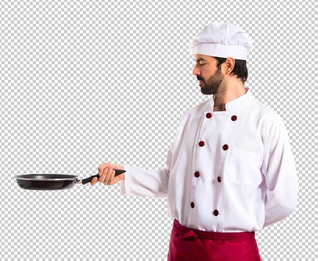 Chef-kok bedrijf koekenpan Premium Psd