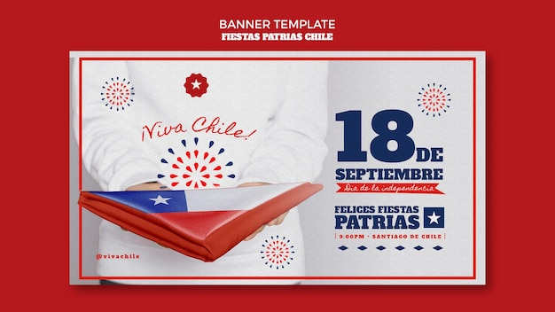 Chili internationale dag banner Gratis Psd