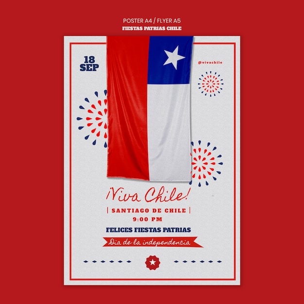 Chili internationale dag poster concept Gratis Psd
