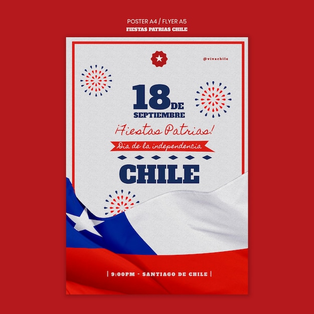 Chili internationale dag poster sjabloon Gratis Psd