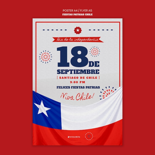 Chili internationale dag poster thema Gratis Psd