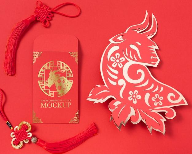 Chinees nieuwjaar elementen samenstelling Gratis Psd