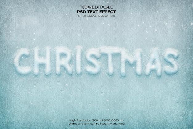 Christmas frost-teksteffect Gratis Psd