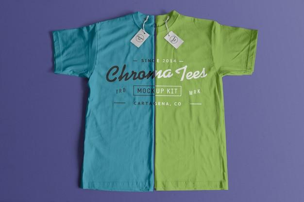 Chromatees tshirt mockup Gratis Psd