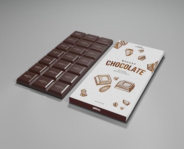 Cioccolato mock up Psd Premium