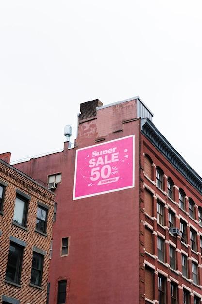 City billboard concept mock-up Psd Gratuite