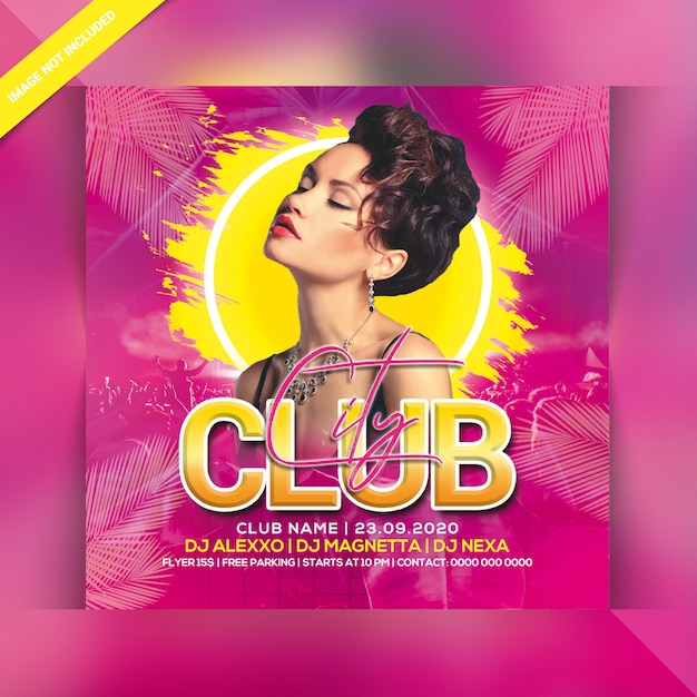 City club nachtfeest flyer Premium Psd