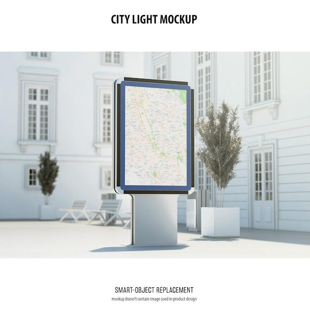 City light mockup Psd Gratuite
