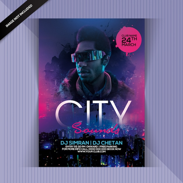 City night party flyer Psd Premium