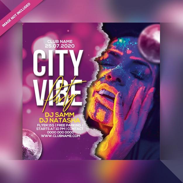 City vibe party flyer Premium Psd