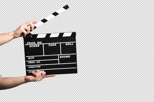 Clapper su sfondo bianco Psd Premium