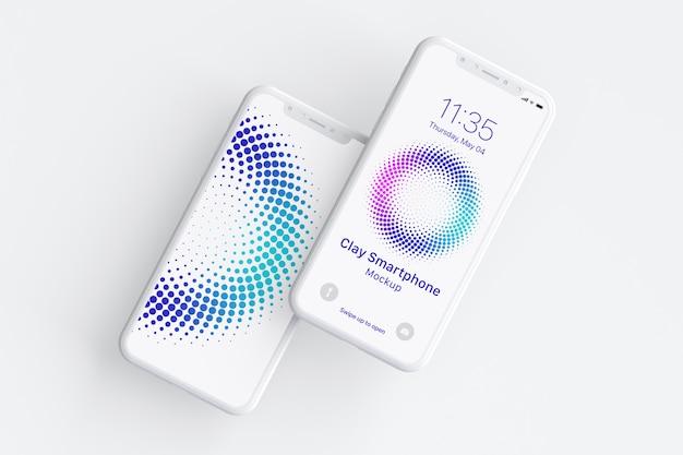 Clay smartphone mockup Premium Psd
