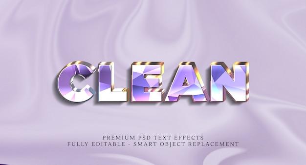 Clean text style effect psd, effetti di testo psd premium Psd Premium