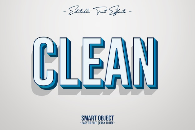 Clean-text-style-effect Gratis Psd