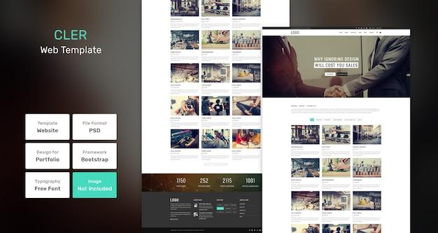 Cler portfolio websjabloon Premium Psd