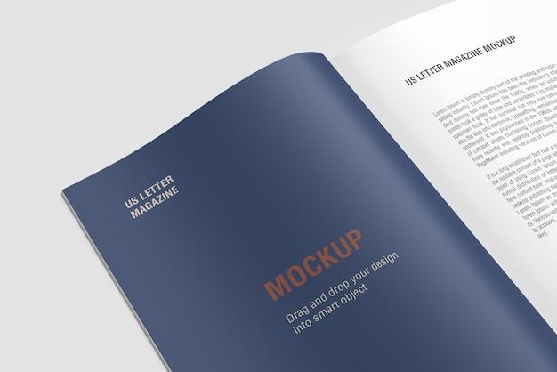 Close up libro o rivista psd mockup Psd Premium