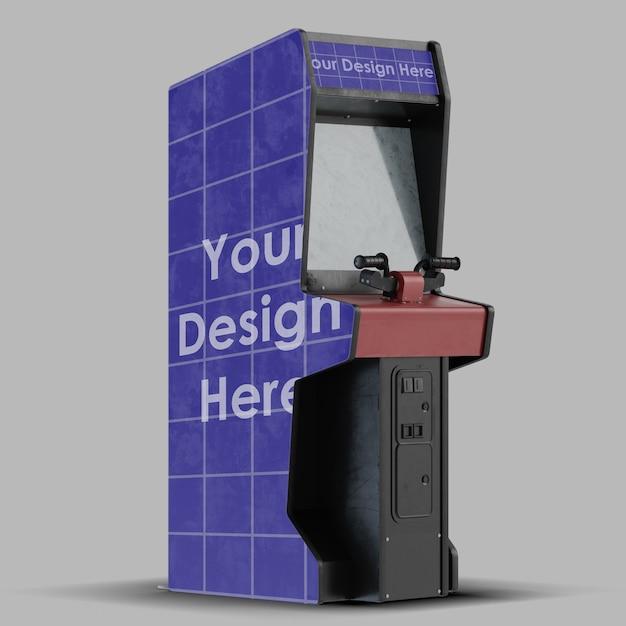 Close-up op arcade mockup geïsoleerd Premium Psd