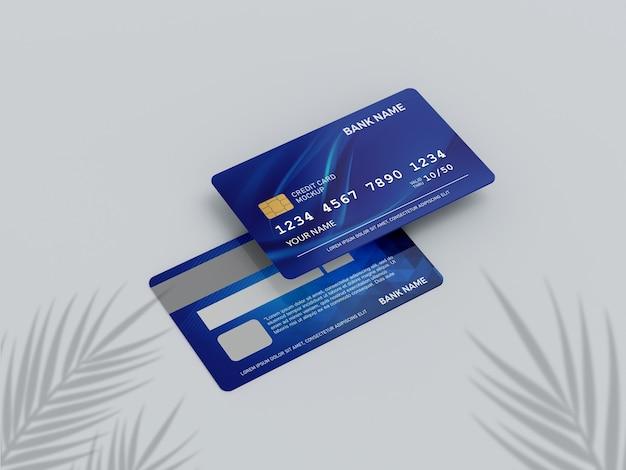 Close-up op creditcardmodel Premium Psd