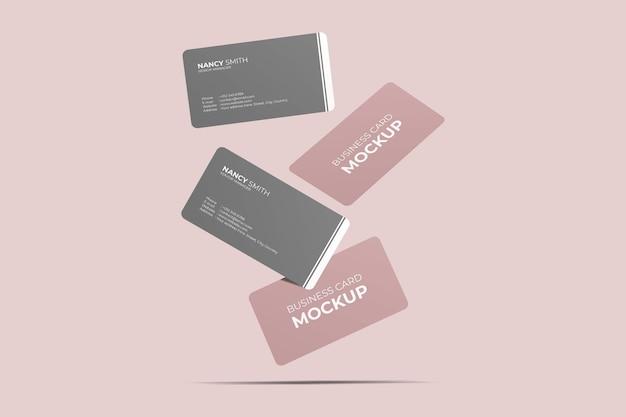 Close-up op drijvend visitekaartje Premium Psd