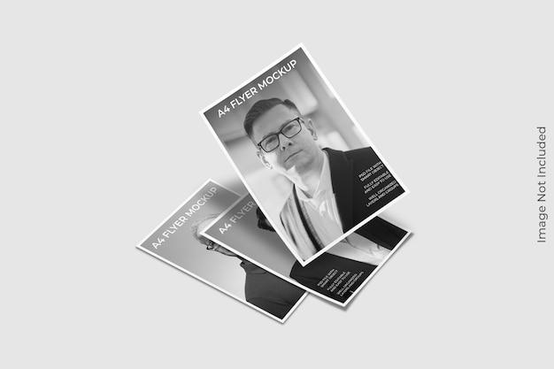 Close-up op flyer brochure mockup Premium Psd