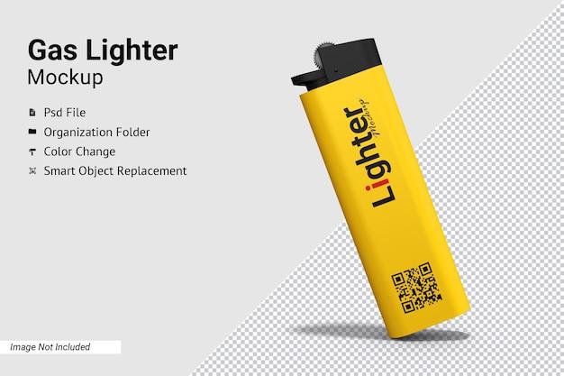 Close-up op gasaansteker mockup geïsoleerd Premium Psd