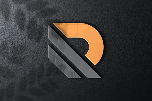 Close-up op logo mockup-ontwerp Premium Psd