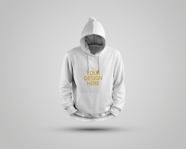 Close-up op mooie hoodie mockup geïsoleerd Premium Psd