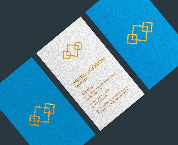 Close-up op visitekaartjes logo mockup Premium Psd