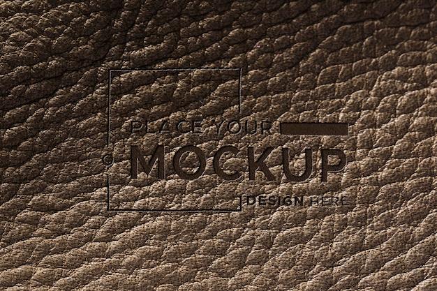 Close-up van bruin lederen oppervlak mock-up Gratis Psd