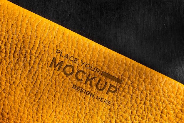 Close-up van geel leermodel Gratis Psd