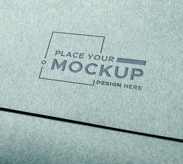 Close-up visitekaartje mock-up Gratis Psd