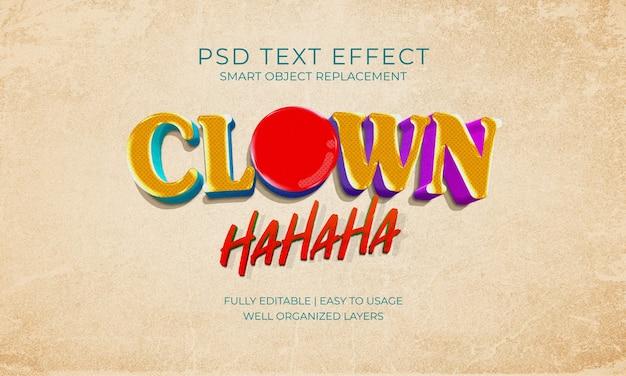 Clown lach teksteffect sjabloon Premium Psd